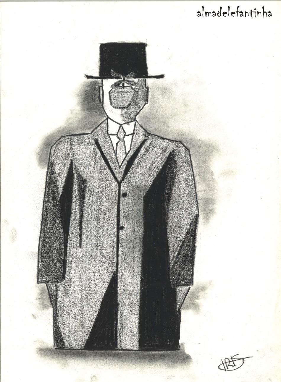 El hijo del hombre - René Magritte-reinterpretacion_almadelefantinha
