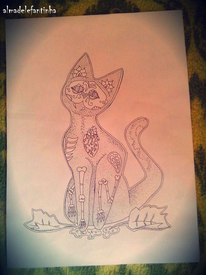 Diseño Gato Xián _almadelefantinha_