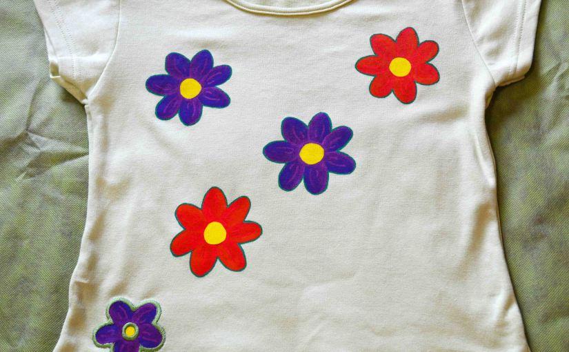 Flores. Camisetas pintadas amano