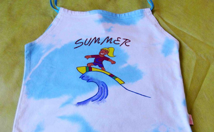 Summer. Camisetas pintadas amano