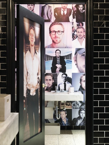 The Ryan Gosling bathroom stall at Bang Bang in the Gaslamp District San Diego 01