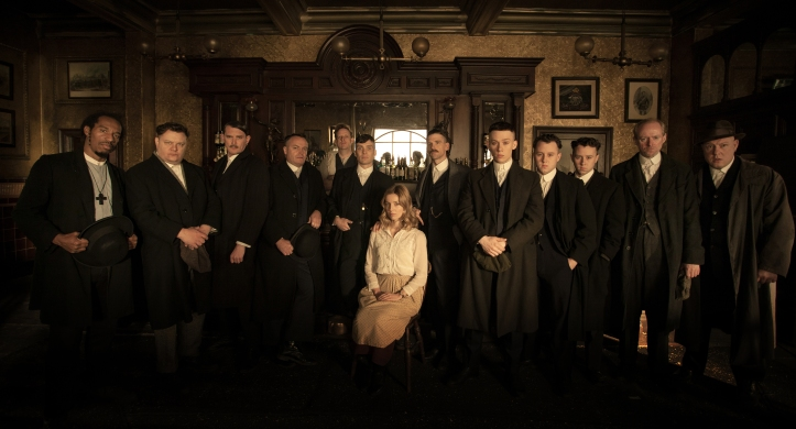 Programme Name: Peaky Blinders - TX: 12/09/2013 - Episode: 1 (No. 1) - Embargoed for publication until: n/a - Picture Shows: Thomas Shelby (Cillian Murphy), Grace Burgess (Annabelle Wallis), Arthur Shelby (Paul Anderson), John Shelby (Joe Cole) - (C) Tiger Aspect - Photographer: Robert Viglasky