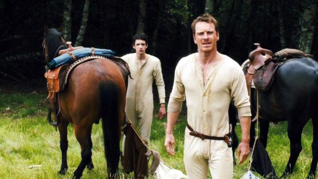 Slow West michael -fassbender and Kodi Smit-McPhee