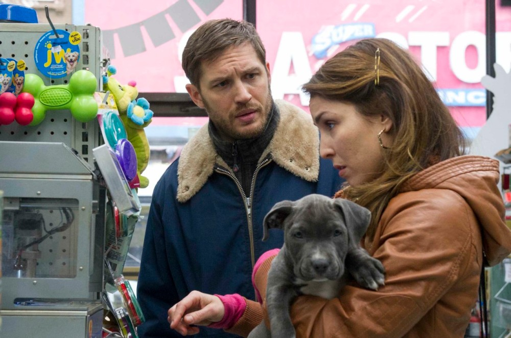"Tom Hardy as ""Bob"" and Noomi Rapace as ""Nadia"" in THE DROP. Photo by Barry Wetcher. Copyright © 2014 Twentieth Century Fox."