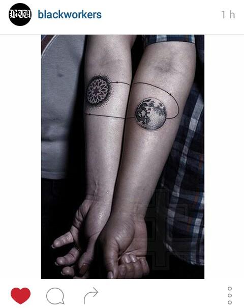tattoo planets pareja