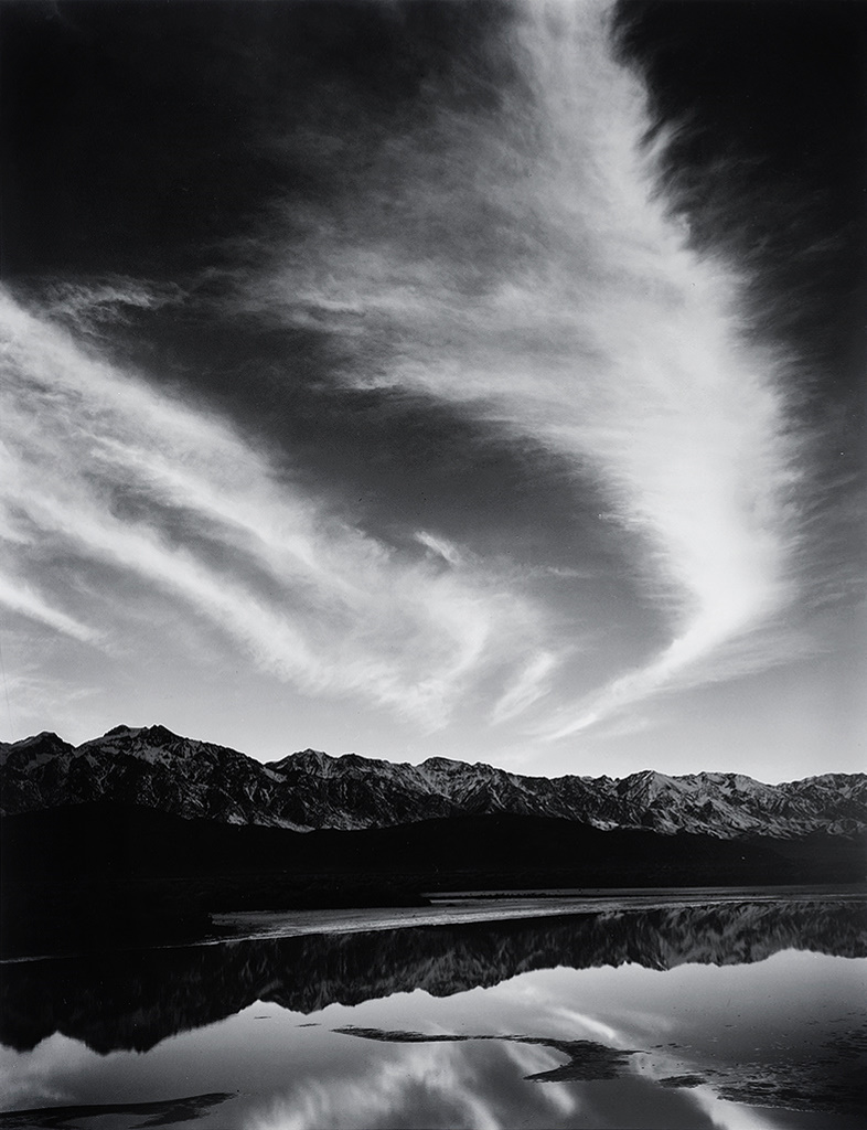 ansel-adams-sierra-nevada-winter-evening-from-the-owens-valley-1963