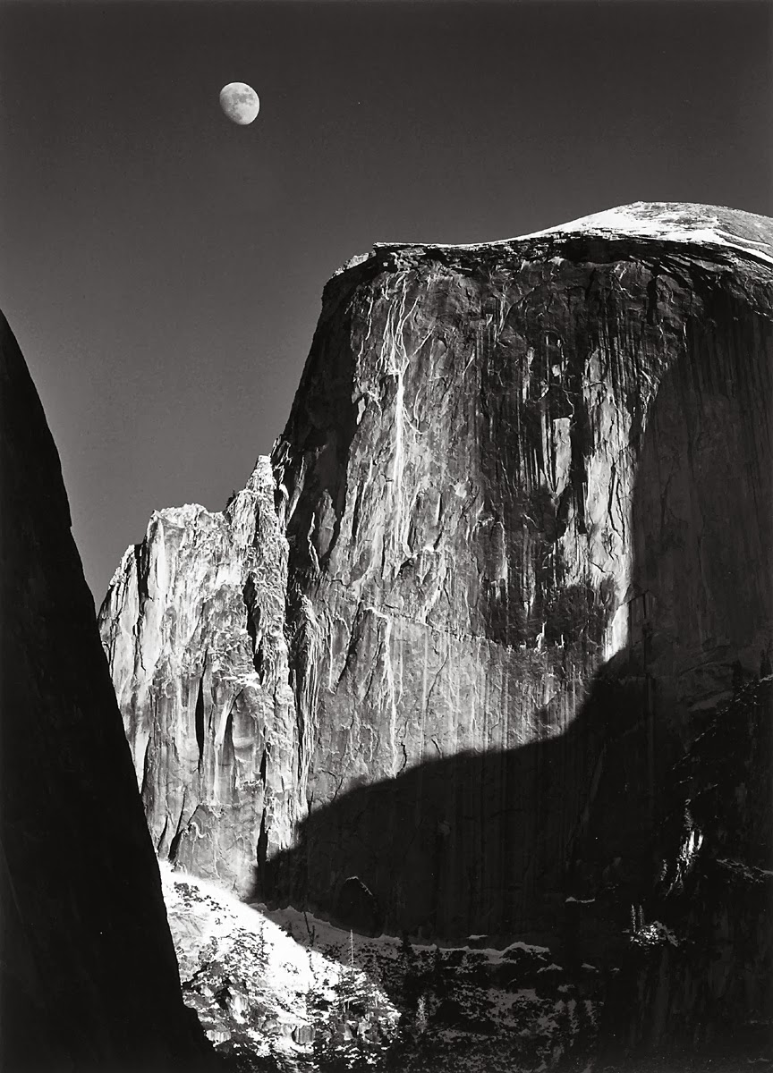 ansel-adams-tono-moon-and-half-dome