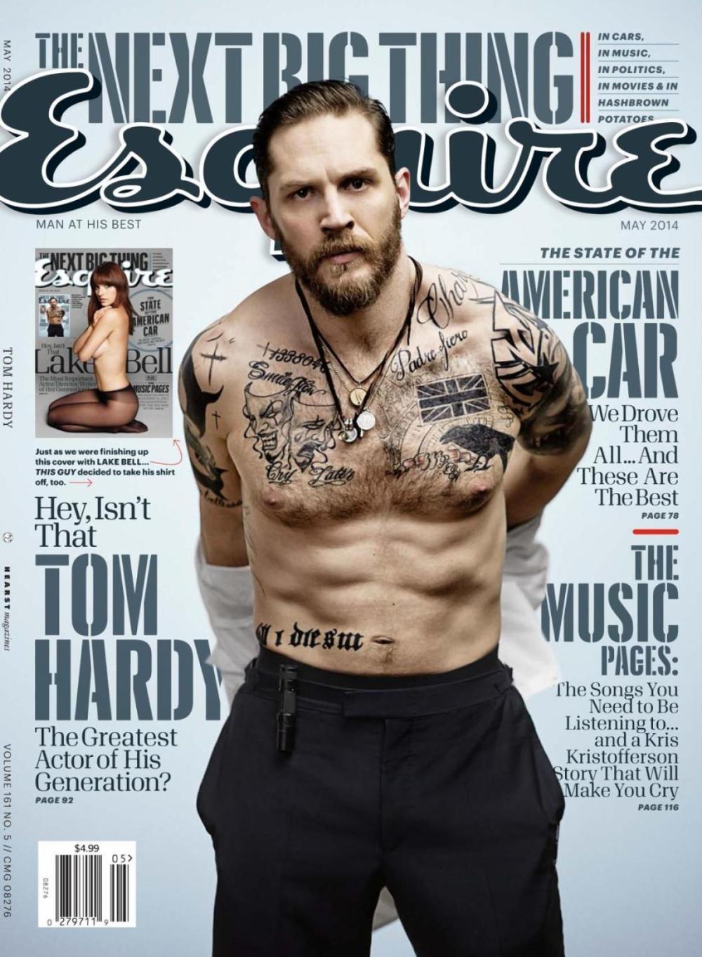 Tom Hardy Esquire Magazine